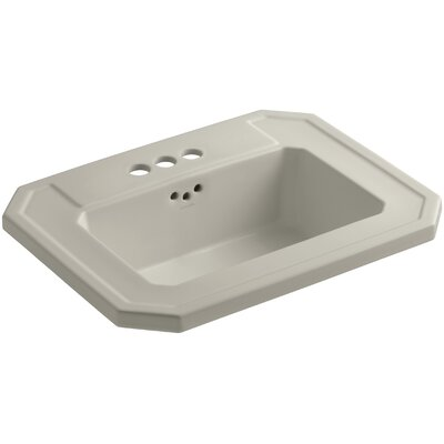 Kathryn� Ceramic Rectangular Drop-In Bathroom Sink with Overflow Finish: Sandbar