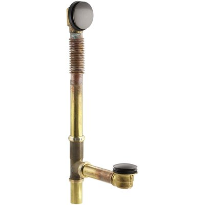 Clearflobrass Toe Tap 1.5 Leg Tub Drain With Overflow Finish: Oil Rubbed Bronze
