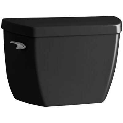 Highline Classic 1.0 GPF Toilet Tank with Tank Cover Locks and Left-Hand Trip Lever Finish: Black Black