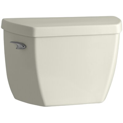 Highline Classic 1.0 GPF Toilet Tank with Tank Cover Locks and Left-Hand Trip Lever Finish: Biscuit