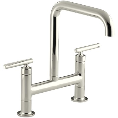 Purist Two-Hole Deck-Mount Bridge Kitchen Sink Faucet Finish: Vibrant Polished Nickel