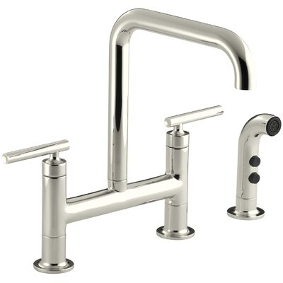 Purist Deck Mount Kitchen Sink Faucet Finish: Vibrant Polished Nickel