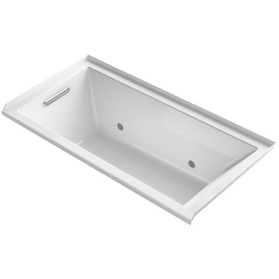 Underscore Alcove Vibracoustic 60 x 30 Whirpool Bathtub Finish: White