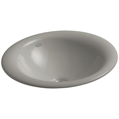 Iron Bell Oval Vessel Bathroom Sink Sink Finish: Cashmere