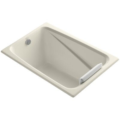 Greek 48 x 32 Soaking Bathtub Finish: Almond