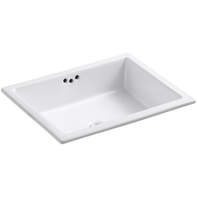Kathryn Rectangular Undermount Bathroom Sink with Overflow Finish: White