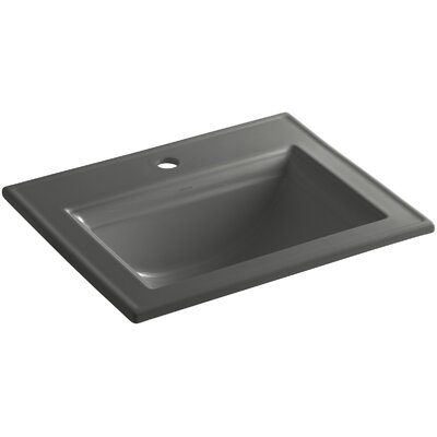 Memoirs� Ceramic Rectangular Drop-In Bathroom Sink with Overflow Finish: Thunder Grey