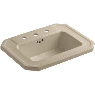 Kathryn� Ceramic Rectangular Drop-In Bathroom Sink with Overflow Finish: Mexican Sand