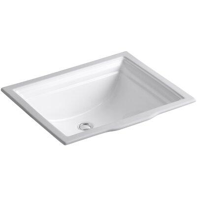Memoirs Rectangular Undermount Bathroom Sink with Overflow Sink Finish: White