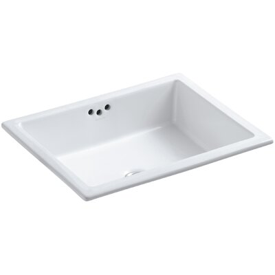 Kathryn Rectangular Undermount Bathroom Sink with Overflow Finish: White