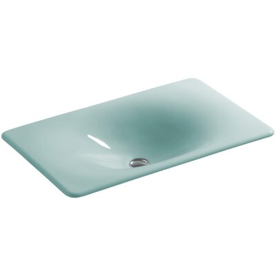 Iron Tones Self Rimming Bathroom Sink Sink Finish: Vapour Green