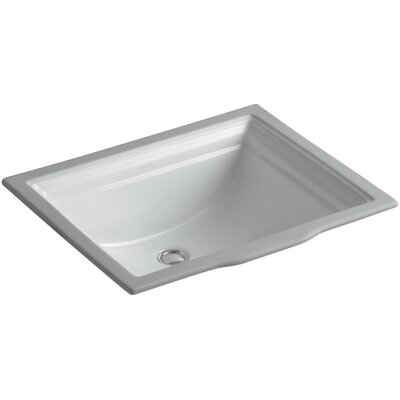 Memoirs Rectangular Undermount Bathroom Sink with Overflow Sink Finish: Ice Grey