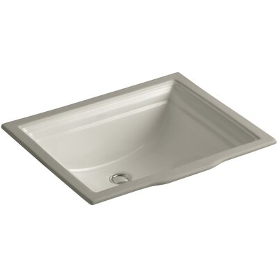 Memoirs Rectangular Undermount Bathroom Sink with Overflow Sink Finish: Sandbar