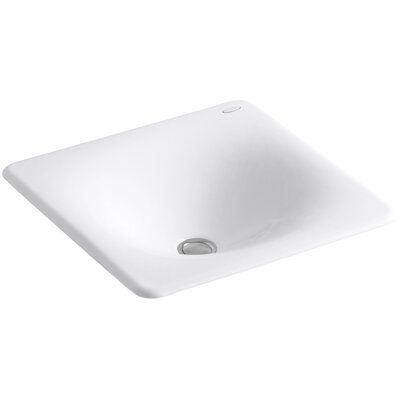Iron Tones Self Rimming Bathroom Sink Sink Finish: White