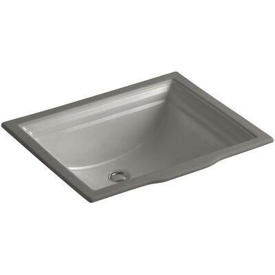 Memoirs Vitreous China Rectangular Undermount Bathroom Sink with Overflow Sink Finish: Cashmere