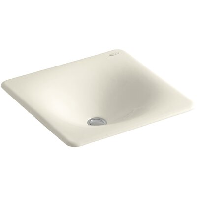 Iron Tones Metal Rectangular Drop-In Bathroom Sink Sink Finish: Almond