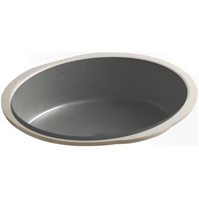 Verticyl Oval Undermount Bathroom Sink Sink Finish: Thunder Grey