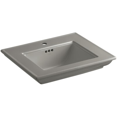 Memoirs� Ceramic 25 Pedestal Bathroom Sink with Overflow Finish: Cashmere, Faucet Hole Style: 4Centerset