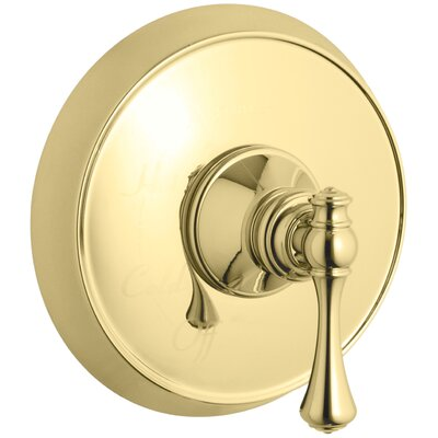 Revival Valve Trim with Traditional Lever Handle for Rite-Temp Pressure-Balancing Valve Finish: Vibrant Polished Brass K-T16117-4A-PB