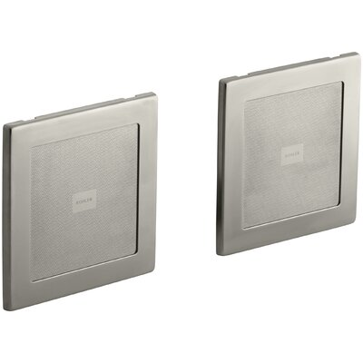 Soundtile Speakers (Pair Of Speakers) Finish: Vibrant Brushed Nickel