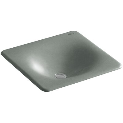 Iron Tones Metal Rectangular Drop-In Bathroom Sink Sink Finish: Basalt