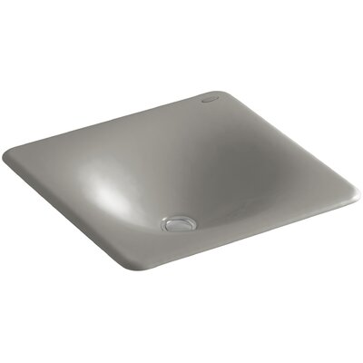 Iron Tones Self Rimming Bathroom Sink Sink Finish: Cashmere