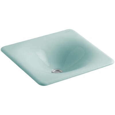 Iron Tones Metal Rectangular Drop-In Bathroom Sink Sink Finish: Vapour Green