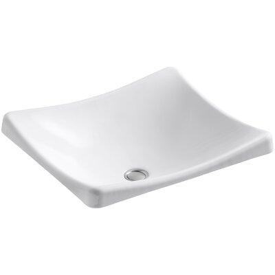 Demilav Wading Pool Specialty Vessel Bathroom Sink Sink Finish: White