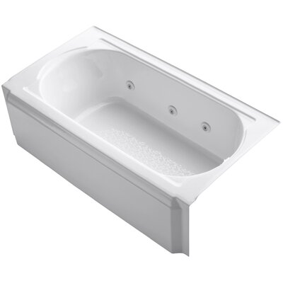 Memoirs Alcove 60 x 34 Whirpool Bathtub Finish: White