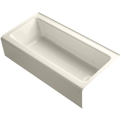 Bellwether 60 X 30 Bath with Integral Apron Finish: Almond, Drain Location: Left