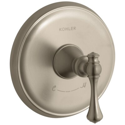 Revival Valve Trim with Traditional Lever Handle for Thermostatic Valve, Requires Valve Finish: Vibrant Brushed Bronze