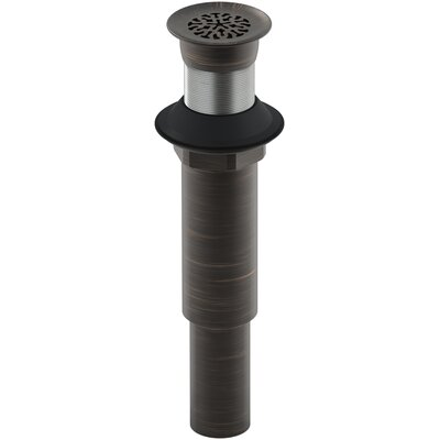 Decorative 1.25 Grid Shower Drain With Overflow Finish: Oil Rubbed Bronze