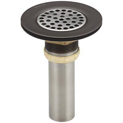 Sink 4.5 Grid Kitchen Sink Drain Finish: Oil Rubbed Bronze