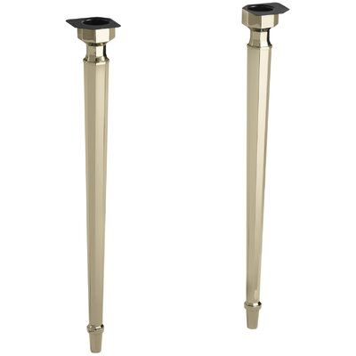 Kathryn Octagonal Tapered Brass Table Legs Finish: Vibrant French Gold