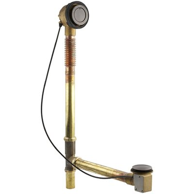 Clearfloclosing 3 Push and Lock Tub Drain with Overflow Finish: Oil Rubbed Bronze