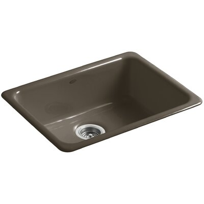 Iron/Tones 24-1/4 x 18-3/4 x 8-1/4 Top-Mount/Under-Mount Single-Bowl Kitchen Sink Finish: Suede