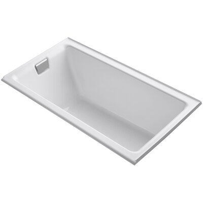 Tea-For-Two Alcove 66 x 36 Soaking Bathtub Finish: White