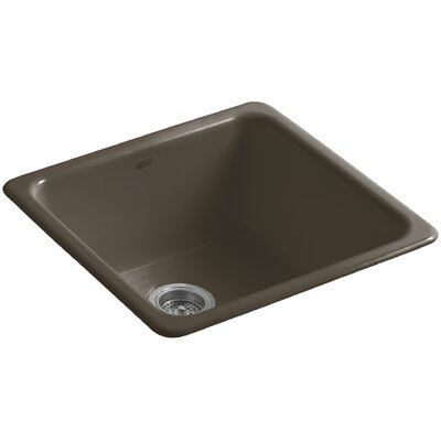 Iron/Tones 20-7/8 x 20-7/8 x 10 Top-Mount/Under-Mount Single-Bowl Kitchen Sink Finish: Suede