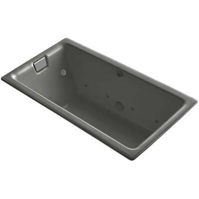 Tea-For-Two Effervescence 66 x 36 Whirpool Bathtub Finish: Thunder Grey