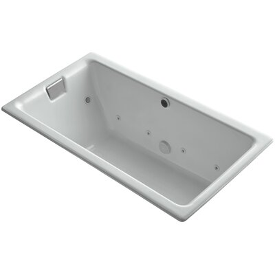 Tea-For-Two Effervescence 66 x 36 Whirpool Bathtub Finish: Ice Grey