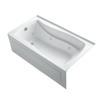 Mariposa 66 x 36 Alcove Whirlpool Finish: White, Drain Location: Left