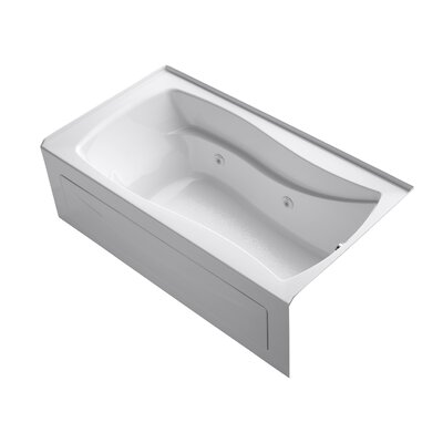 Mariposa 66 x 36 Whirlpool Bathtub Finish: White, Drain Location: Right