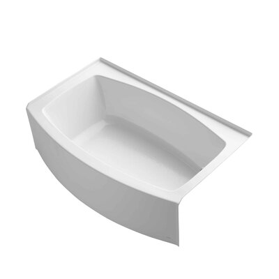 Expanse 60 x 38 Soaking Bathtub Finish: White, Drain Location: Right