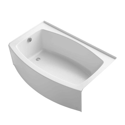 Expanse 60 x 38 Soaking Bathtub Finish: White, Drain Location: Left