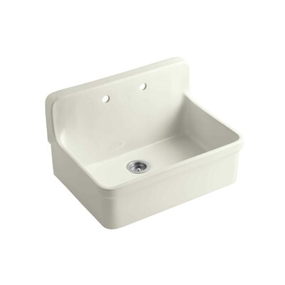 Gilford 30 x 22 x 9-1/2 Wall-Mount/Top-Mount Single-Bowl Kitchen Sink Finish: Biscuit
