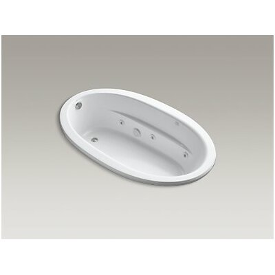 Sunward Drop-In Whirlpool Bath with Bask Heated Surface Finish: White