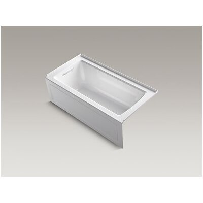 Archer Alcove VibrAcoustic Bath with Integral Apron, Tile Flange and Left-Hand Drain Finish: Dune
