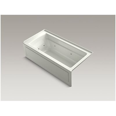 Archer Integral Apron Whirlpool with Tile Flange, Right-Hand Drain and Heater Finish: Dune