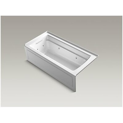 Archer Whirlpool with Integral Apron, Left-Hand Drain and Heater Finish: White
