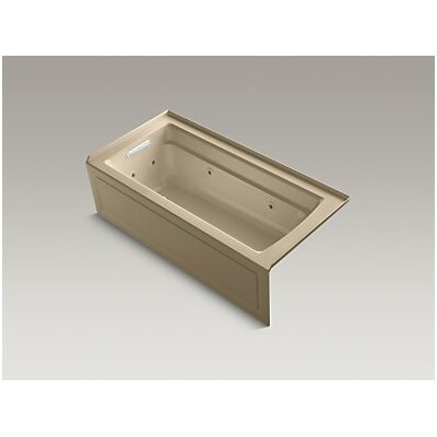Archer Whirlpool with Integral Apron, Left-Hand Drain and Heater Finish: Mexican Sand
